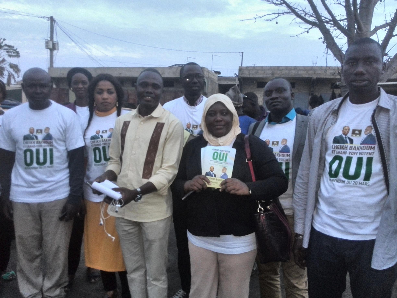 Les jeunes « apéristes » de Grand -Yoff mouillent le maillot pour la victoire du OUI au référendum du 20 mars 2016