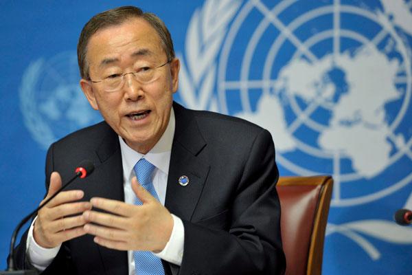 """Ban Ki-moon secrétaire général de l'ONU : """" Il est important pour la Mauritanie de faire avancer la situation au Sahara occidental """""""