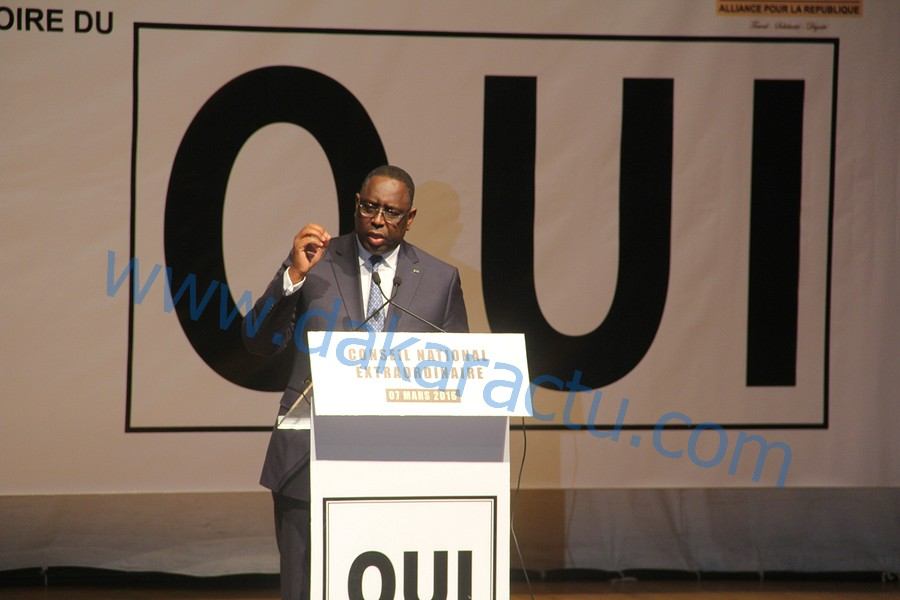 Conseil National de l'Alliance pour la république : Discours du président Macky Sall