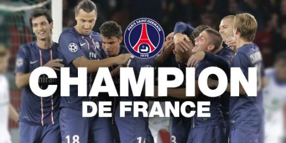 Le PSG sacré champion de France après sa victoire à Troyes (0-9)