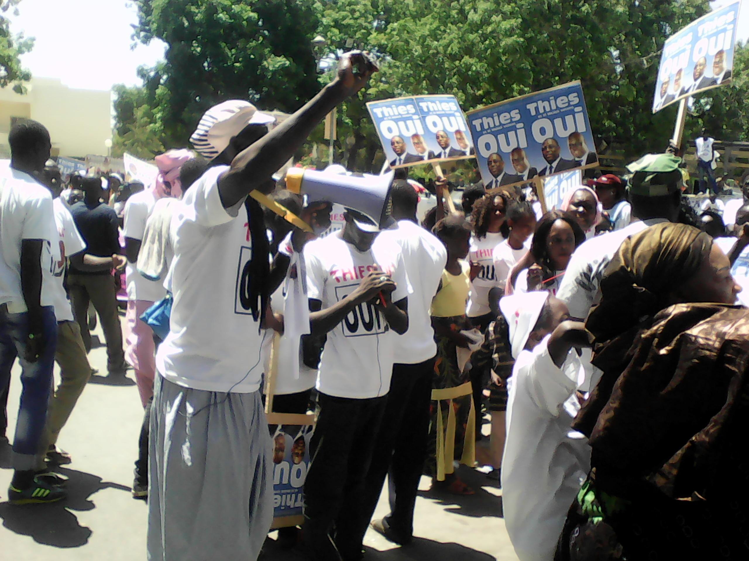 Les images des militants de El Malick Seck lors de la caravane du oui à Thiès