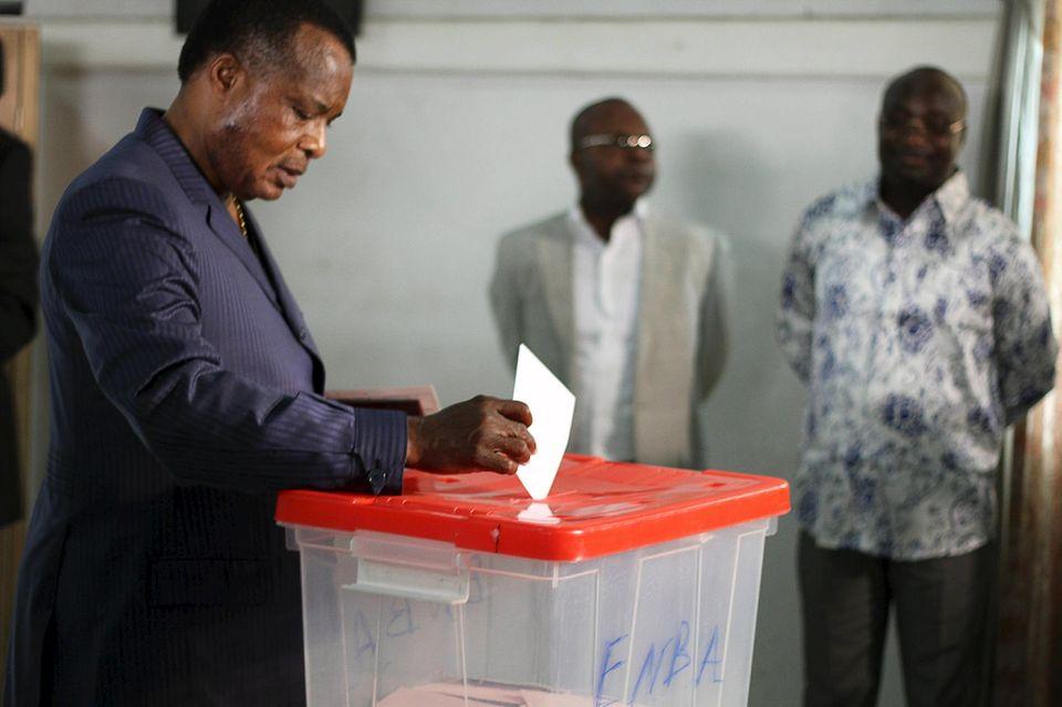 Congo-Brazzaville: Denis Sassou Nguesso en tête du premier tour de la présidentielle avec 67% des voix