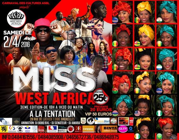 Finale de Miss West Africa Belgium 2016 : Douze prétendantes dont une sénégalaise pour un titre très convoité