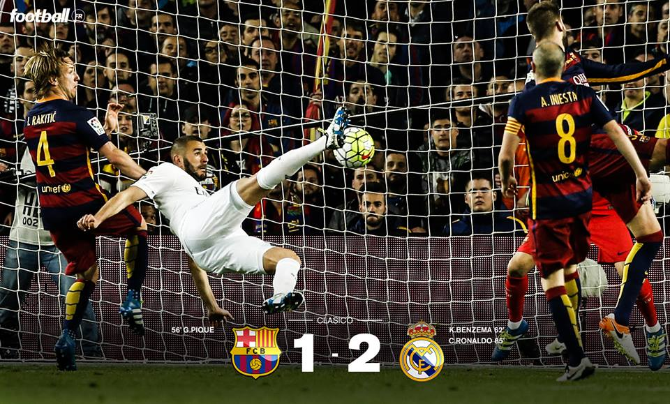 FC Barcelone - Real Madrid : le Real s'impose au caractère (1-2)