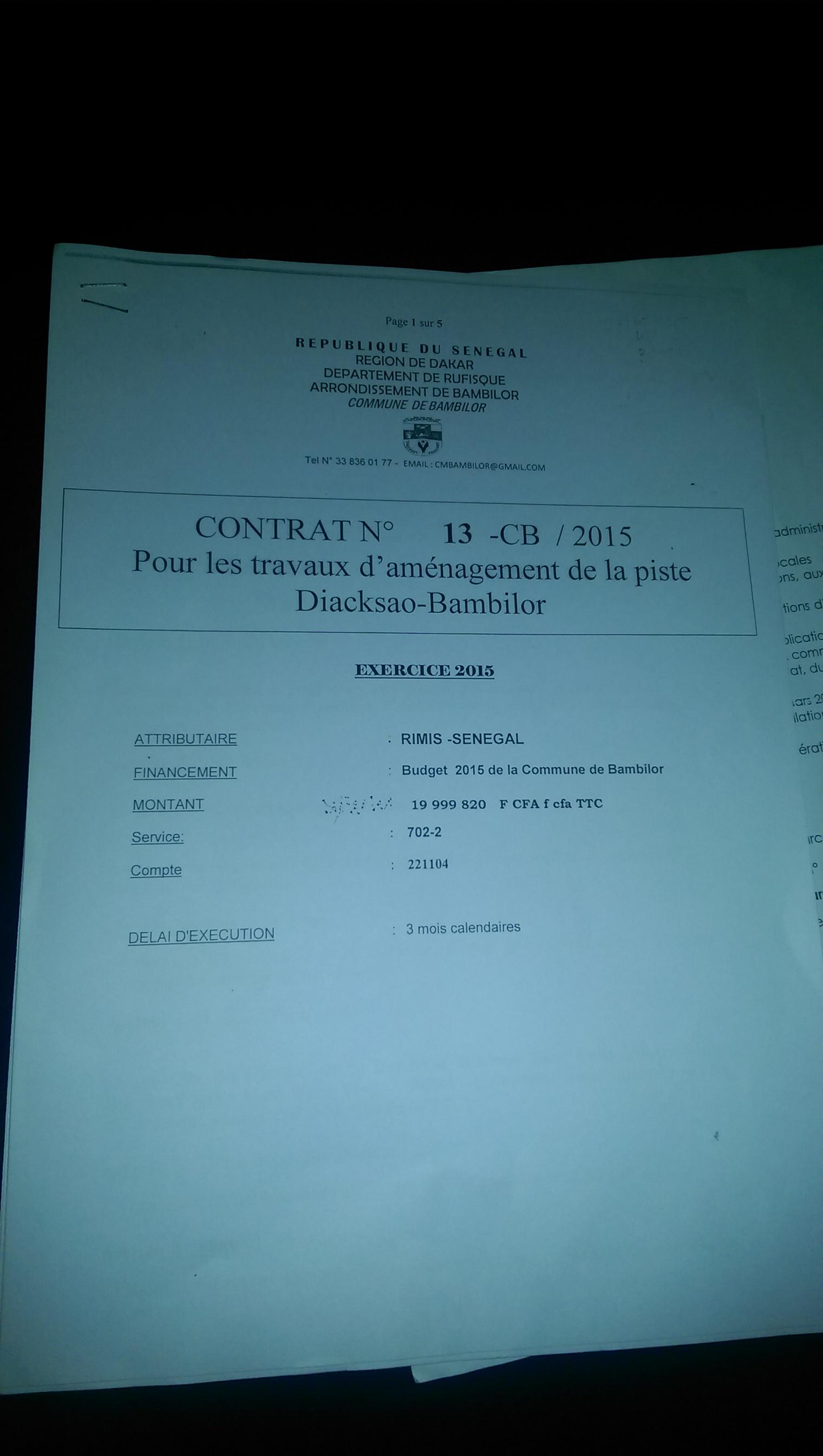 SPOLIATION FONCIÈRE A BAMBILOR : Mamadou Diop, responsable de Vision Rufisque, épinglé