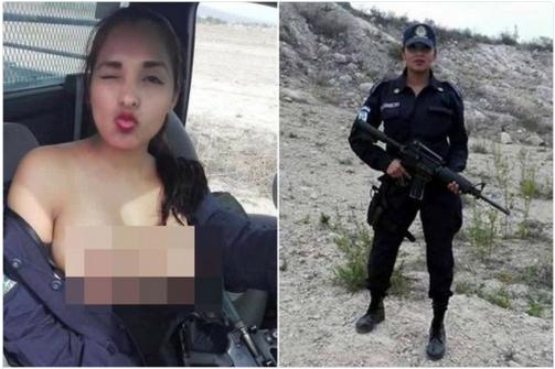 Une policière pose seins nus sur Facebook