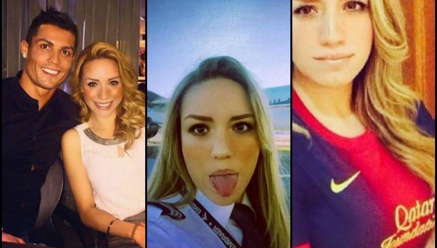 Ronaldo en couple avec une pilote d'avion fan du Barça ?