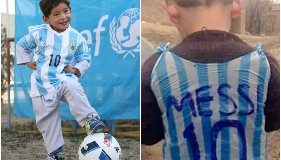 Menacé de kidnapping, le petit fan afghan de Messi s'exile