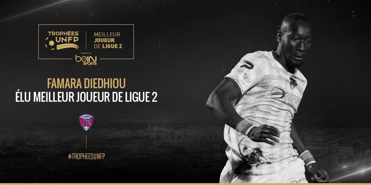 Trophée UNFP : Le sénégalais Famara Diédhiou, meilleur joueur de Ligue 2