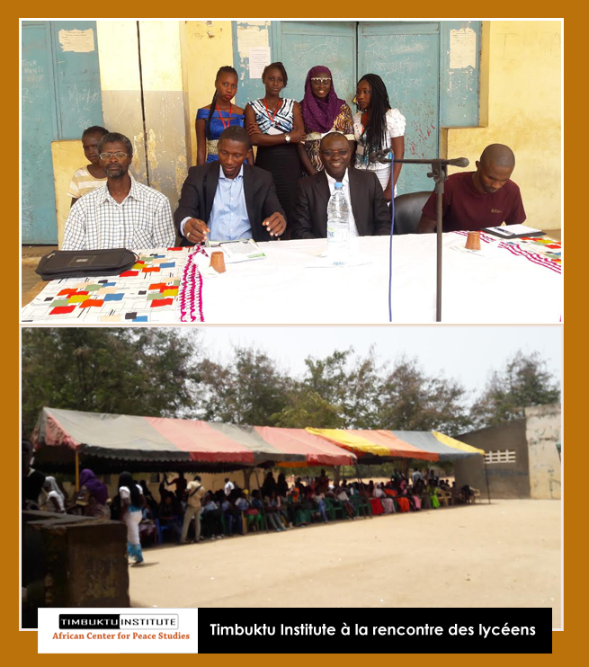 "TIMBUKTU INSTITUTE LANCE ""EDUCATING FOR PEACE"" PROGRAMME DE PRÉVENTION DE L'EXTRÉMISME VIOLENT EN DIRECTION DES JEUNES"