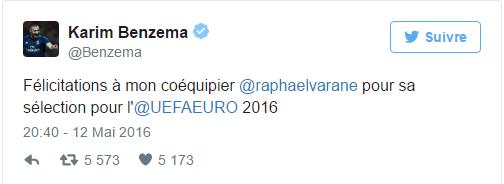 Karim Benzema a réagi à la liste des 23 Bleus.