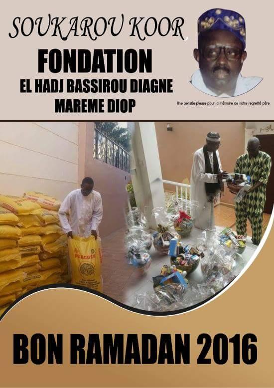 "Solidarité Ramadan : La Fondation Serigne Bassirou Diagne offre 500 kits ""Sukeurou Koor"""