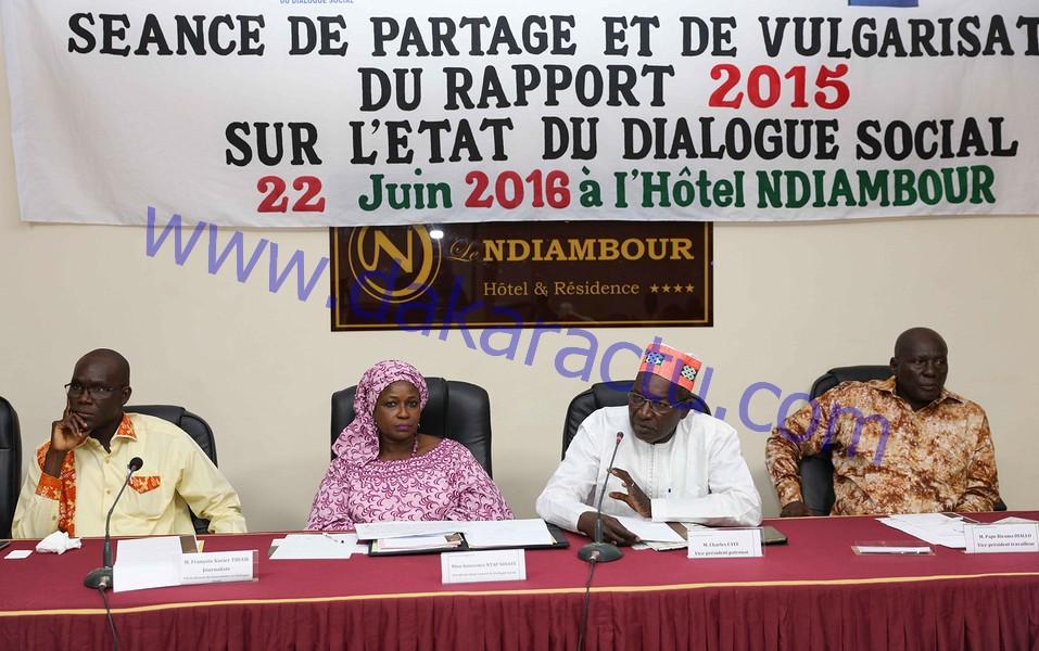 Rapport sur l'état du dialogue social 2015 : Des médiations et des facilitations qui ont porté leurs fruits