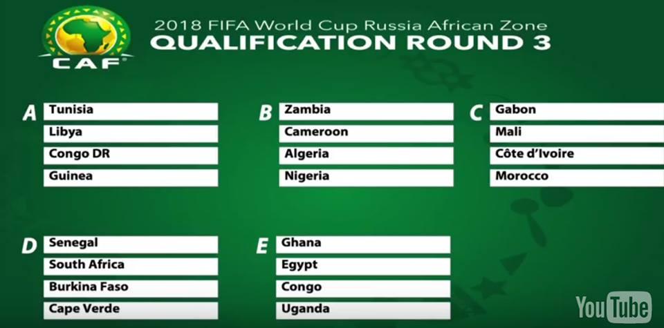 qualification coupe du monde 2019 afrique
