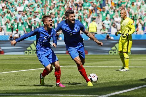 Euro 2016 : la France bat l'Irlande grâce à Griezmann et file en quart de finale