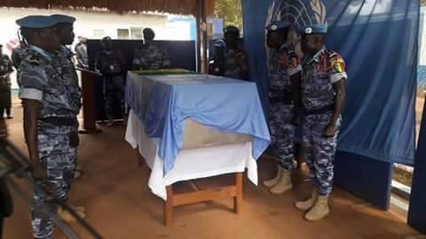 Centrafrique : Dernier hommage de la Minusca au casque bleu sénégalais Racine Diène