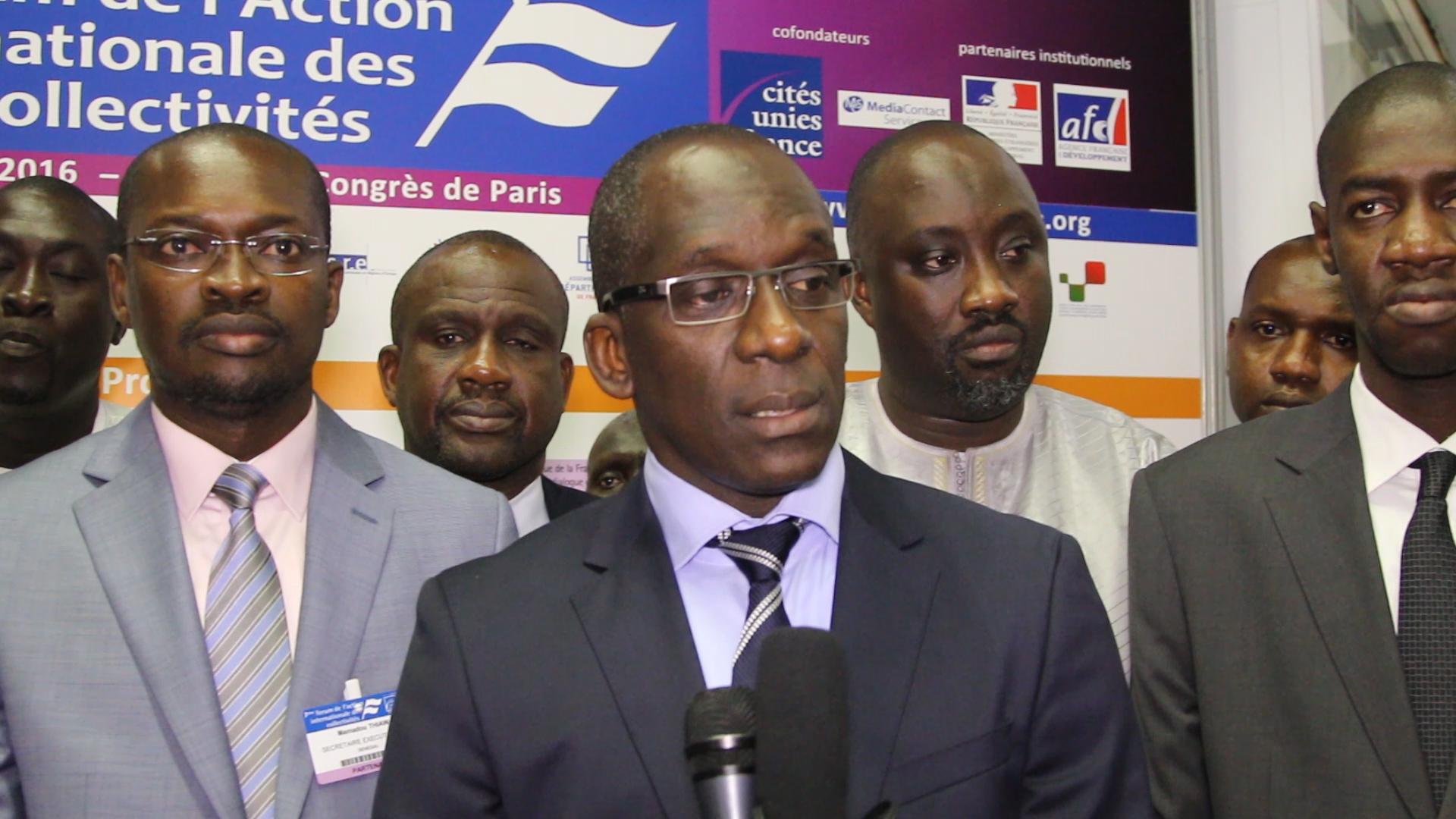 Forum de l'action internationale des collectivités : Abdoulaye Diouf Sarr, plaide pour des financements innovants des Collectivités  locales »