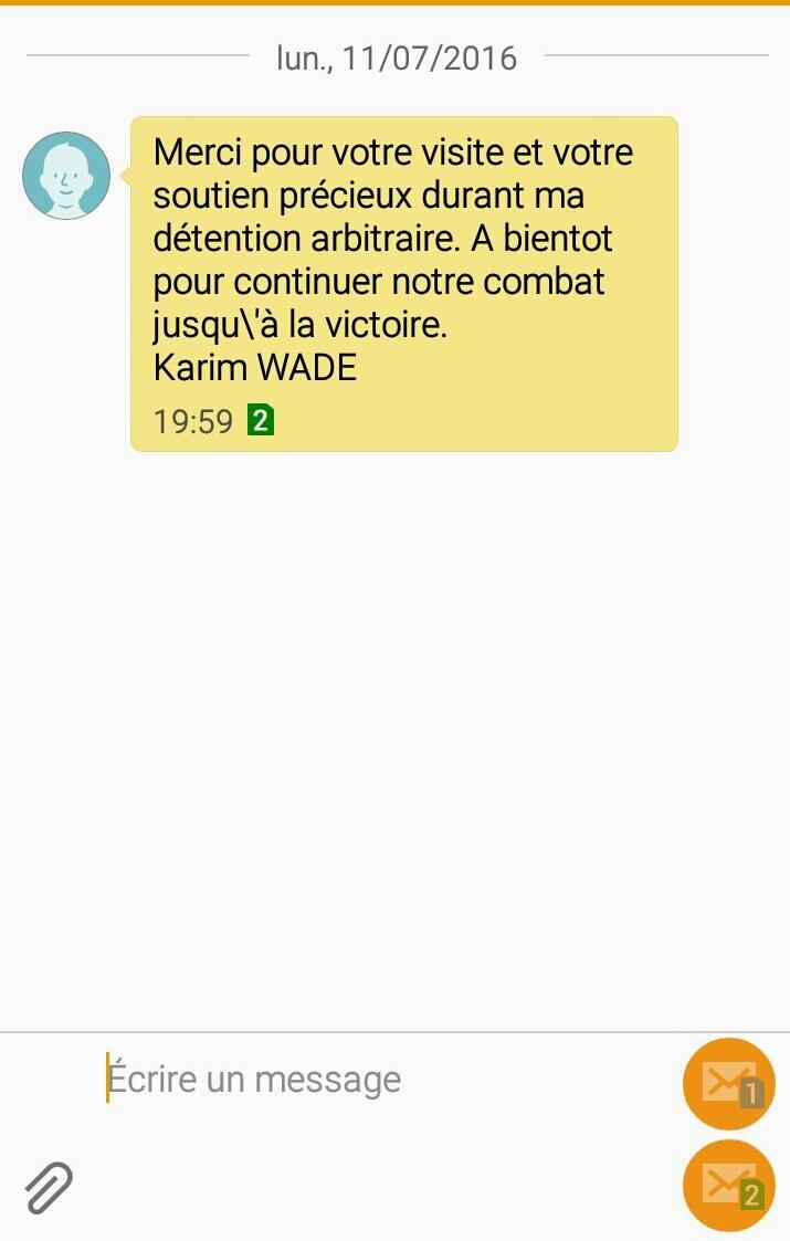 DOHA/DAKAR : Karim Wade envoie des SMS à ses souteneurs