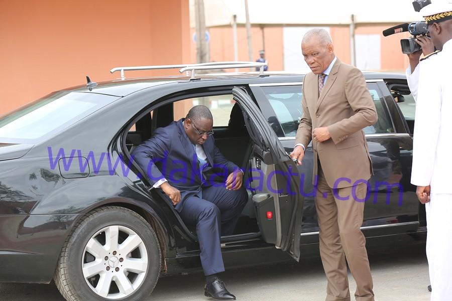 Conseil des ministres décentralisé : les images de l'arrivée du président Macky Sall à l'hôtel de ville de Pikine