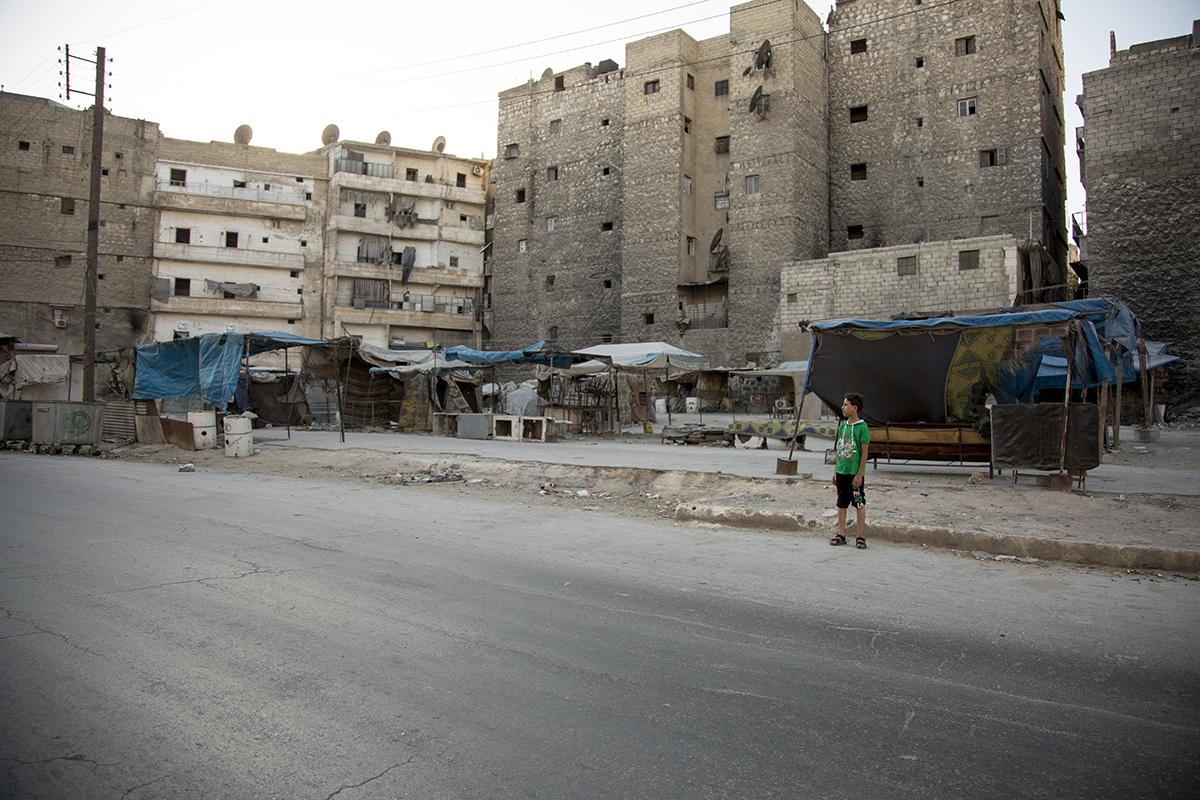 La décapitation d'un enfant par des rebelles provoque l'indignation à Alep, en Syrie