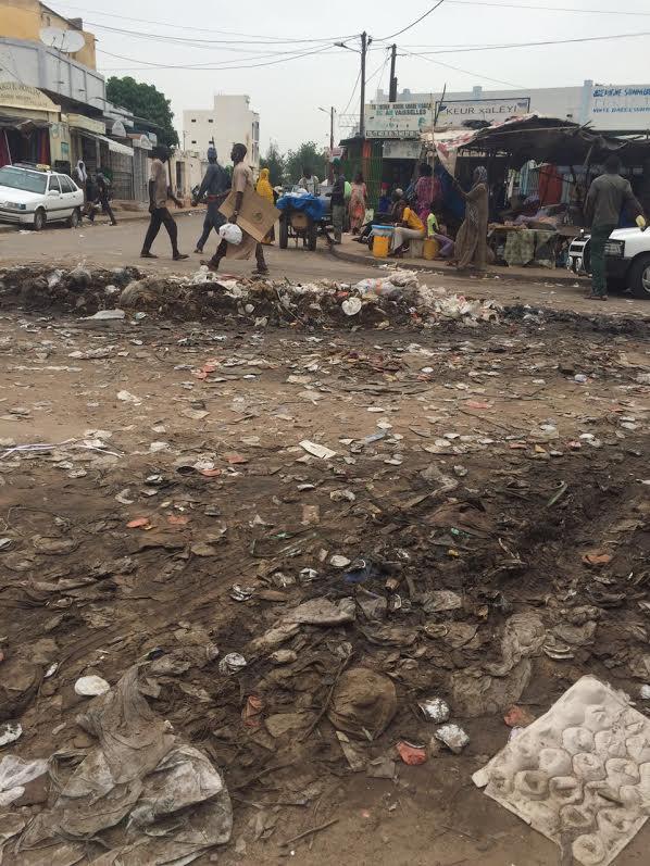 TOUBA - Le marché Ocass baigne dans une marre d'ordures