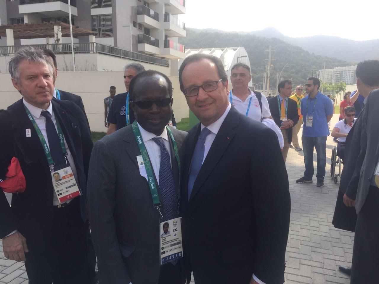 RIO 2016 : Diagna Ndiaye avec le Président français François Hollande