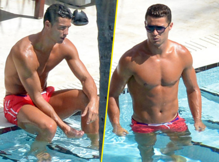 Photos / Cristiano Ronaldo : Attention, c'est chaud !