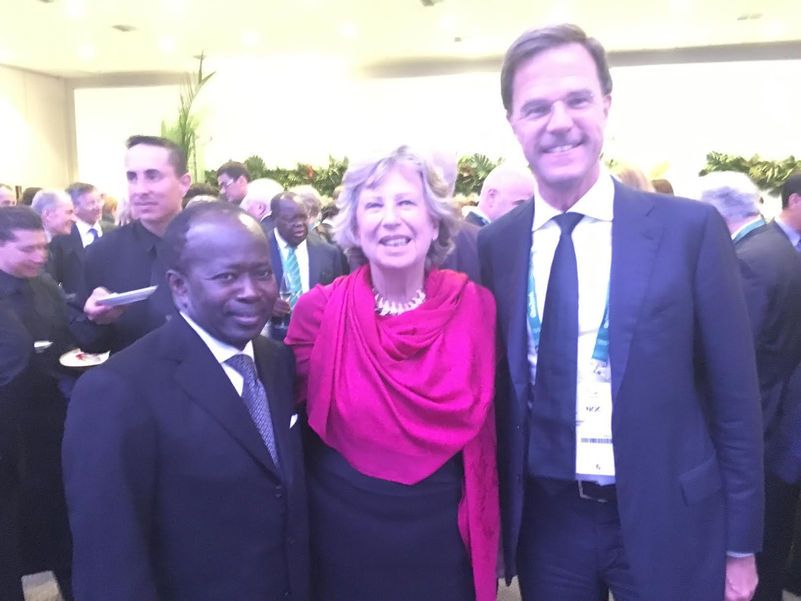 RIO 2016 : Mamadou Diagna Ndiaye avec le premier Ministre des pays Bas Mark Rutte