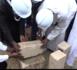 Construction d'une maison de la femme à Guinaw Rails Nord : Le ministre Oumar Guèye procède à la pose de la premiere pierre.