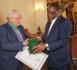 L'ambassadeur Paganon fait ses adieux au Chef de l'Etat : Il est décoré de commandeur dans l'Ordre National du Lion.