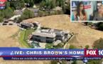Chris Brown encerclé par la Police chez lui à Los Angeles