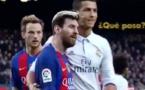 La réaction de Messi quand Cristiano Ronaldo le prend au marquage