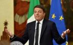 Le chef du gouvernement italien Matteo Renzi a présenté sa démission (présidence)