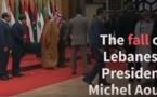 La chute du Président Libanais au sommet de la Ligue arabe