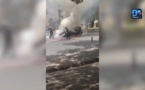 Urgence info : Une voiture est en feu devant le palais de la République