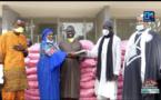 """Thiès : Serigne Mboup apporte sa contribution de 2 tonnes de riz et 500.000 Fcfa au """"Wagnou Daara"""" du maire Talla Sylla."""