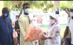Clôture de la campagne de sensibilisation ''NEN KO DANN'' : Soham Wardini désinfecte l'Île de Gorée.