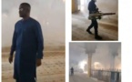 Magal de Touba : Bouna Kanté a entrepris une opération de désinfection et de décontamination de la mosquée Massalikul Jinaan de Dakar.