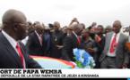 Les images de l'arrivée de la depouille de Papa Wemba à Kinshasa