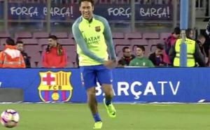 VIDEO : Quand Neymar fait la misère à un jardinier du Camp Nou