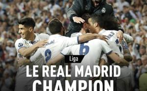 Le Real Madrid est champion d'Espagne !