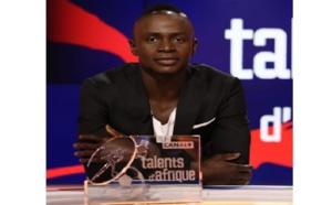 Sadio Mané, lauréat du trophée « talent d'or » de Canal+