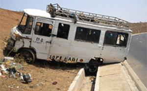Autoroute à péage : Un « ndiaga-ndiaye » heurte un particulier et fait plusieurs blessés