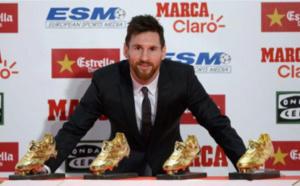 Leo Messi a reçu son 4e Soulier d'Or