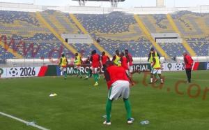 Stade Mouhamed V : Les Lions à l'échauffement