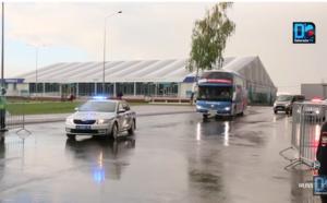 Coupe du monde : Les Lions arrivés à l'aéroport de Kaluga sous la pluie, en boubou traditionnelle