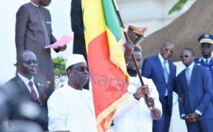 Les images de la cérémonie de remise de Drapeau aux Lions du Sénégal par le president Macky Sall