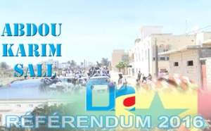 """"""" Référendum 2016 """" - La caravane d'Abdou Karim Sall en banlieue dakaroise"""