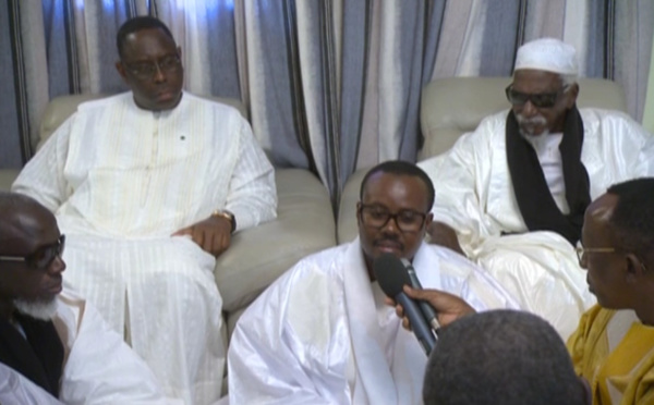 VIDÉO : Extrait de la déclaration de Serigne Bass lors de la visite de Macky Sall chez le Khalife des mourides