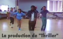Il aurait eu 58 ans aujourd'hui...Michael Jackson le voici dans une vidéo inédite: il répète ici avec son réalisateur John Landis et son choregraphe,  Thriller le clip qui a changé l'histoire de la musique